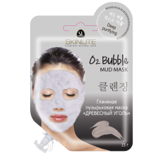 Глиняная пузырьковая маска «ДРЕВЕСНЫЙ УГОЛЬ»